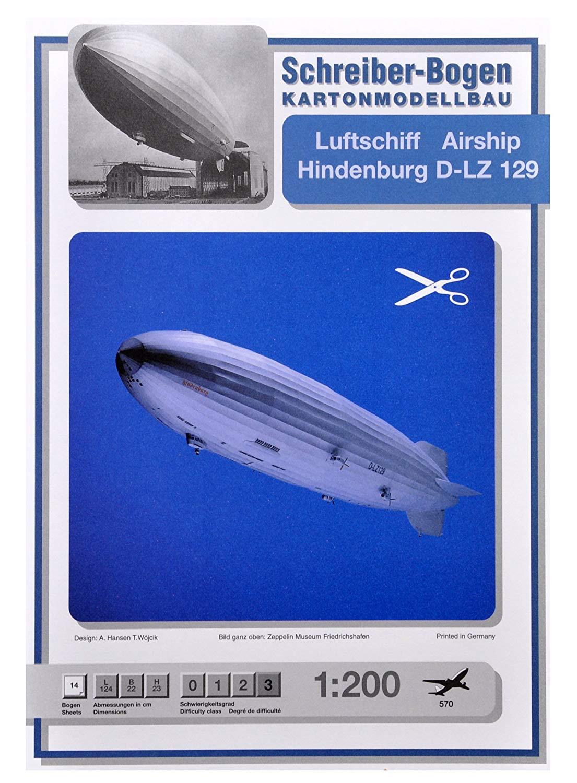 Kartonmodell Luftschiff Hindenburg D-LZ 129