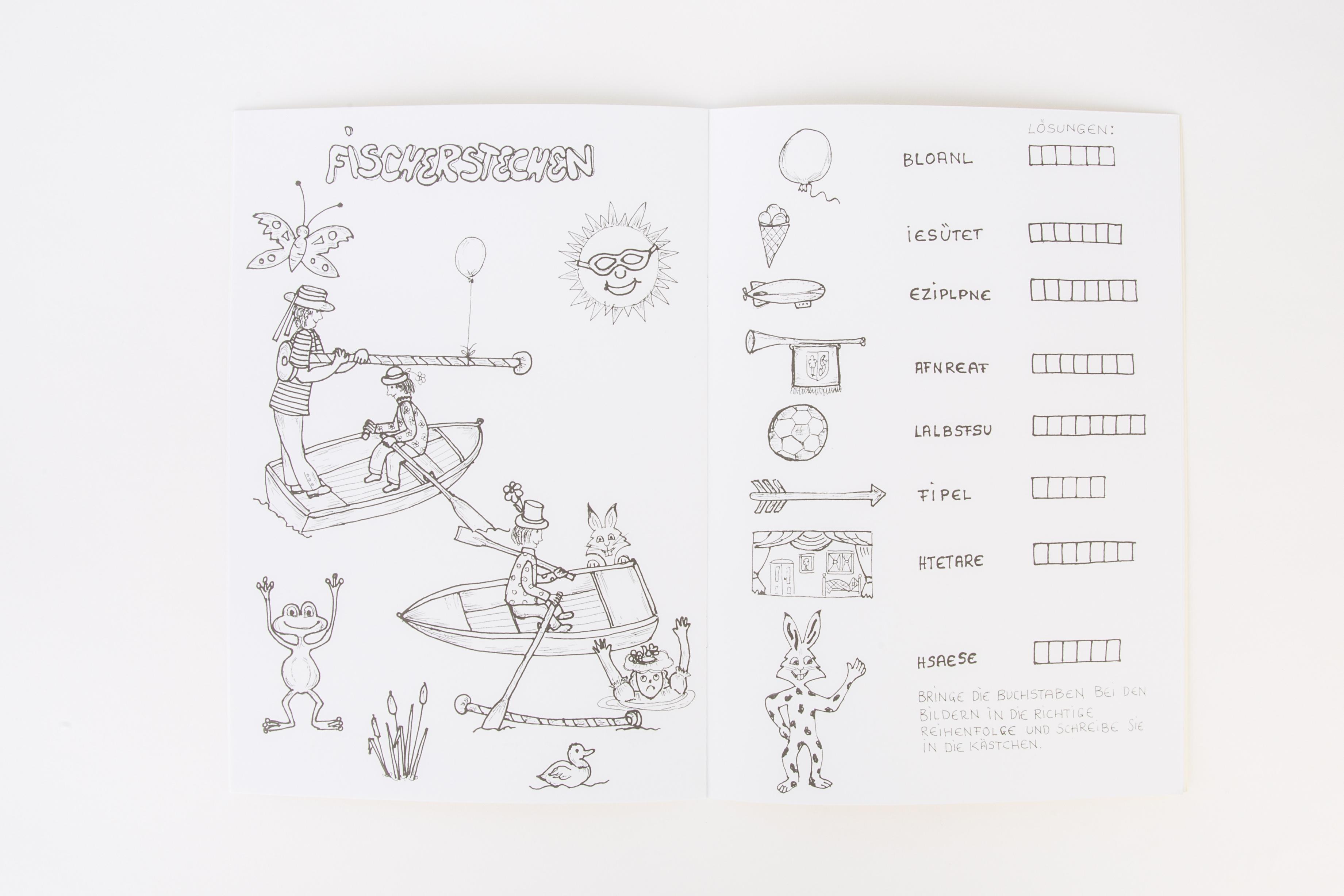 Mal- und Rätselspaß mit dem Seehas