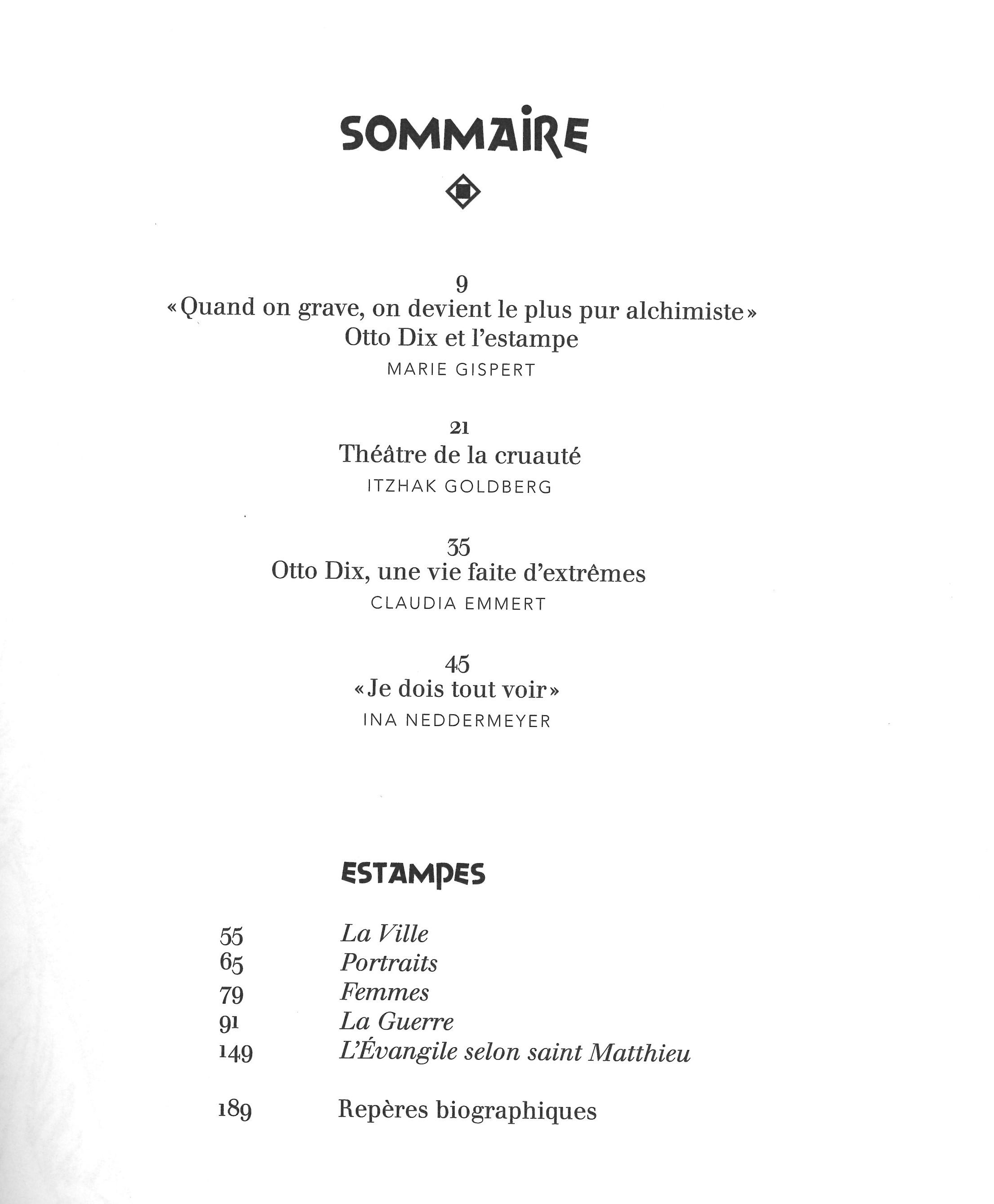 Katalog Otto Dix Estampes