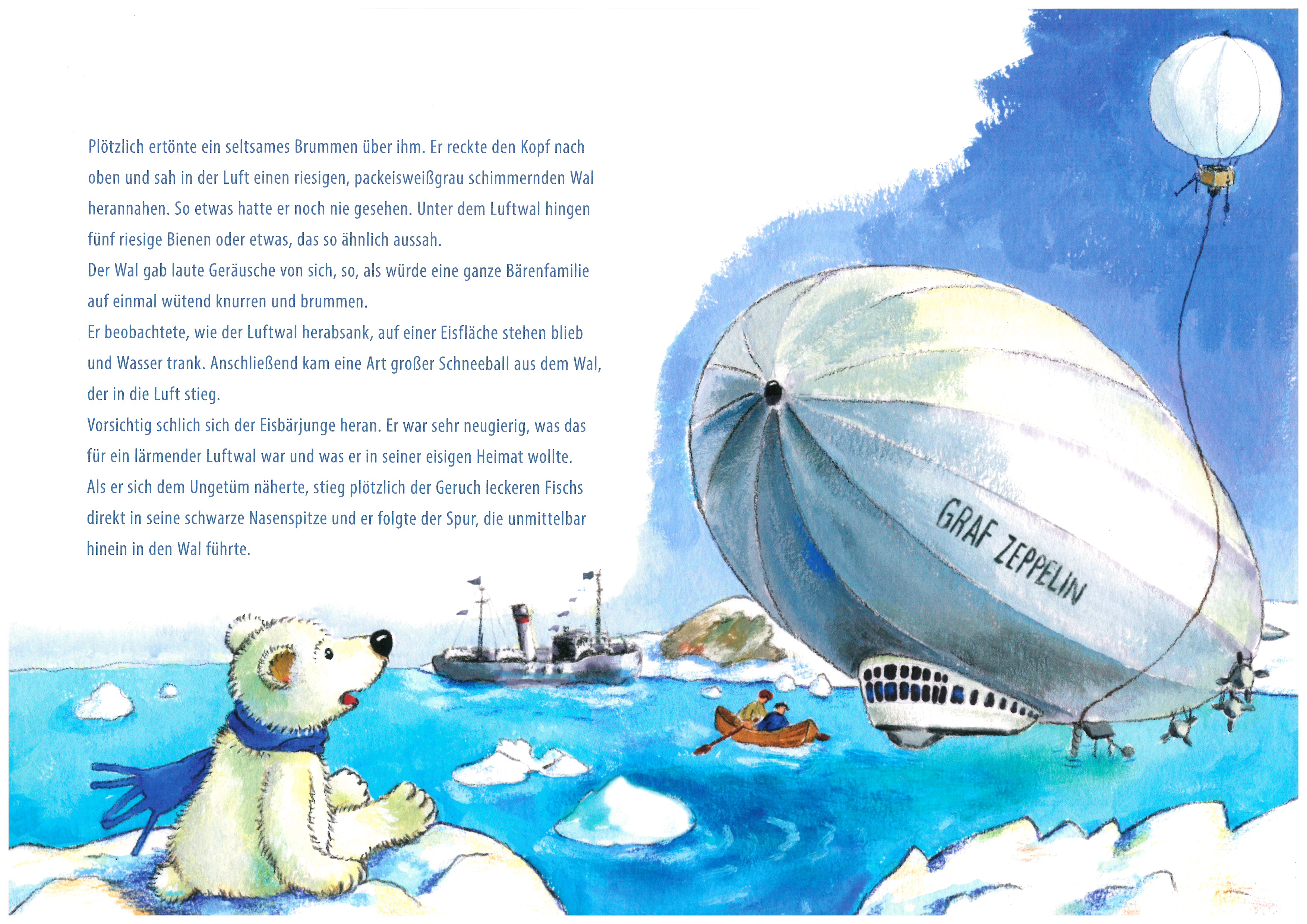 Sabine Ochaba: Hugos Arktisfahrt - Ein Eisbär entdeckt den Zeppelin