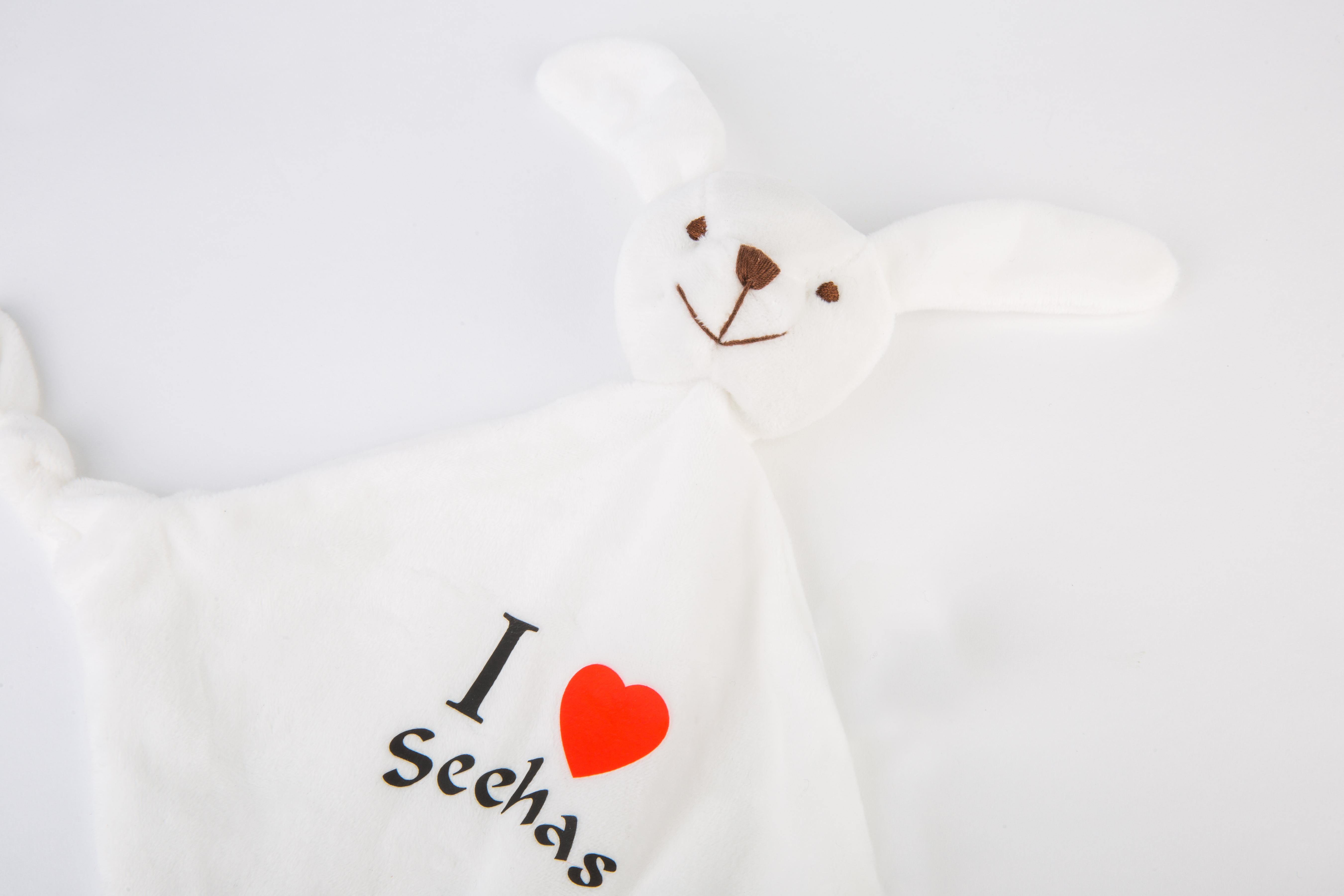 "Baby Schmusetuch ""I love Seehas"""