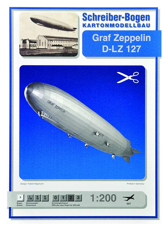 Kartonmodell Graf Zeppelin D-LZ 127